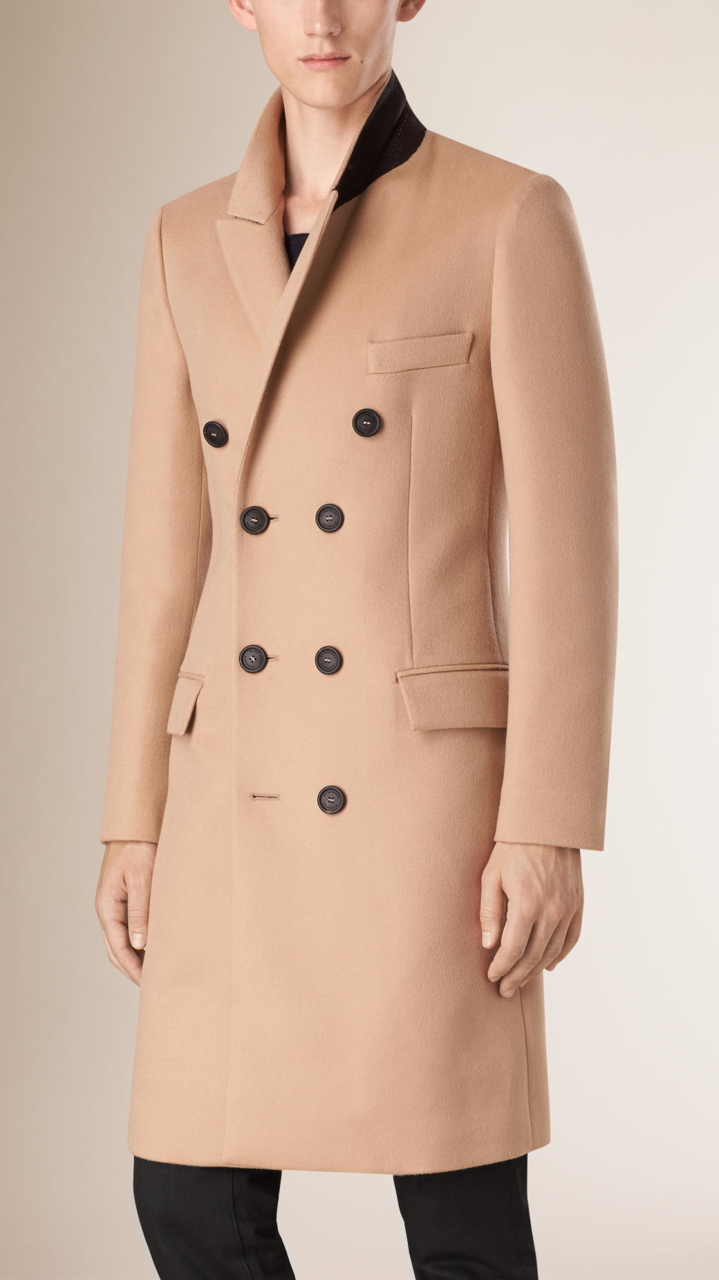 Burberry Cashmere Wool Greatcoat in Natural for Men | Lyst