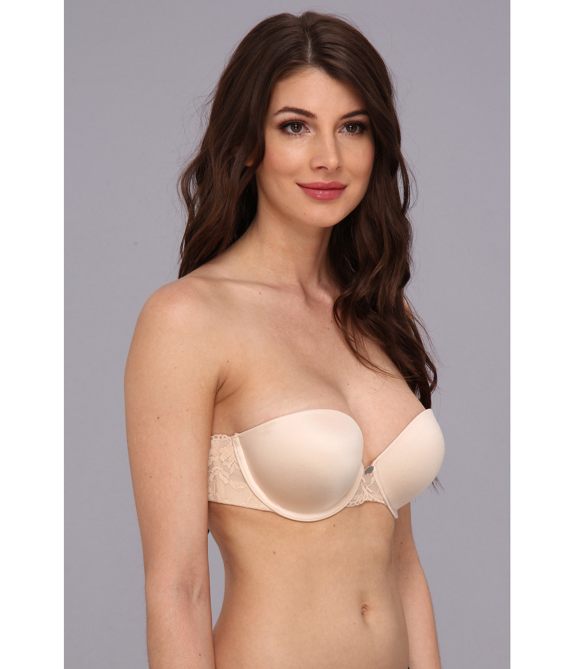 8a133eb428 Lyst - DKNY Super Glam Strapless Push-up Bra 458111 in Natural