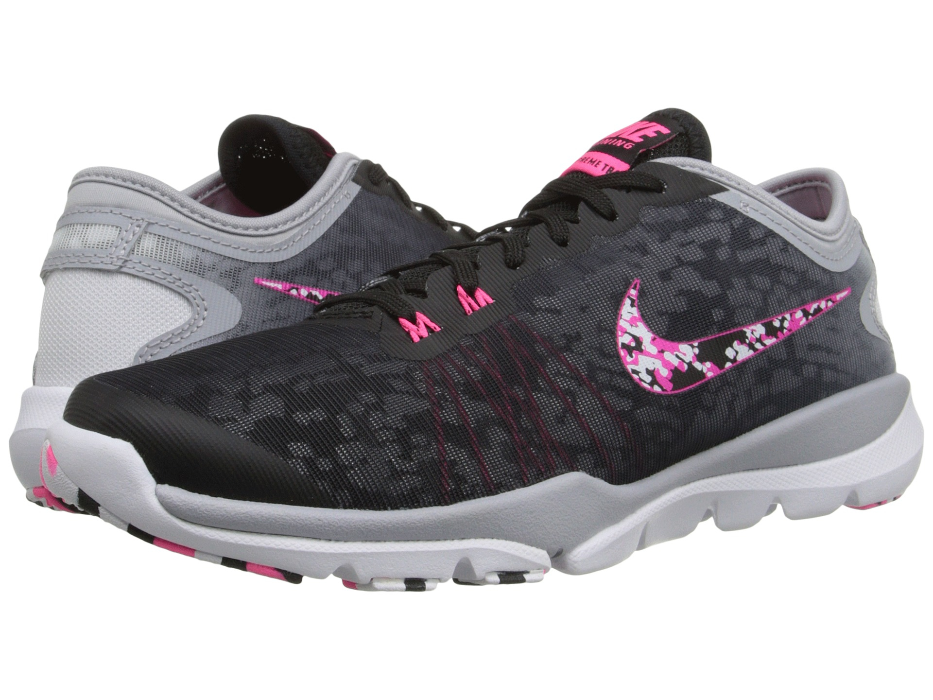 c51a5373ce16 ... Womens Cross Training Shoe - Black  Lyst - Nike Flex Supreme Tr 4 Pr in  Black ...