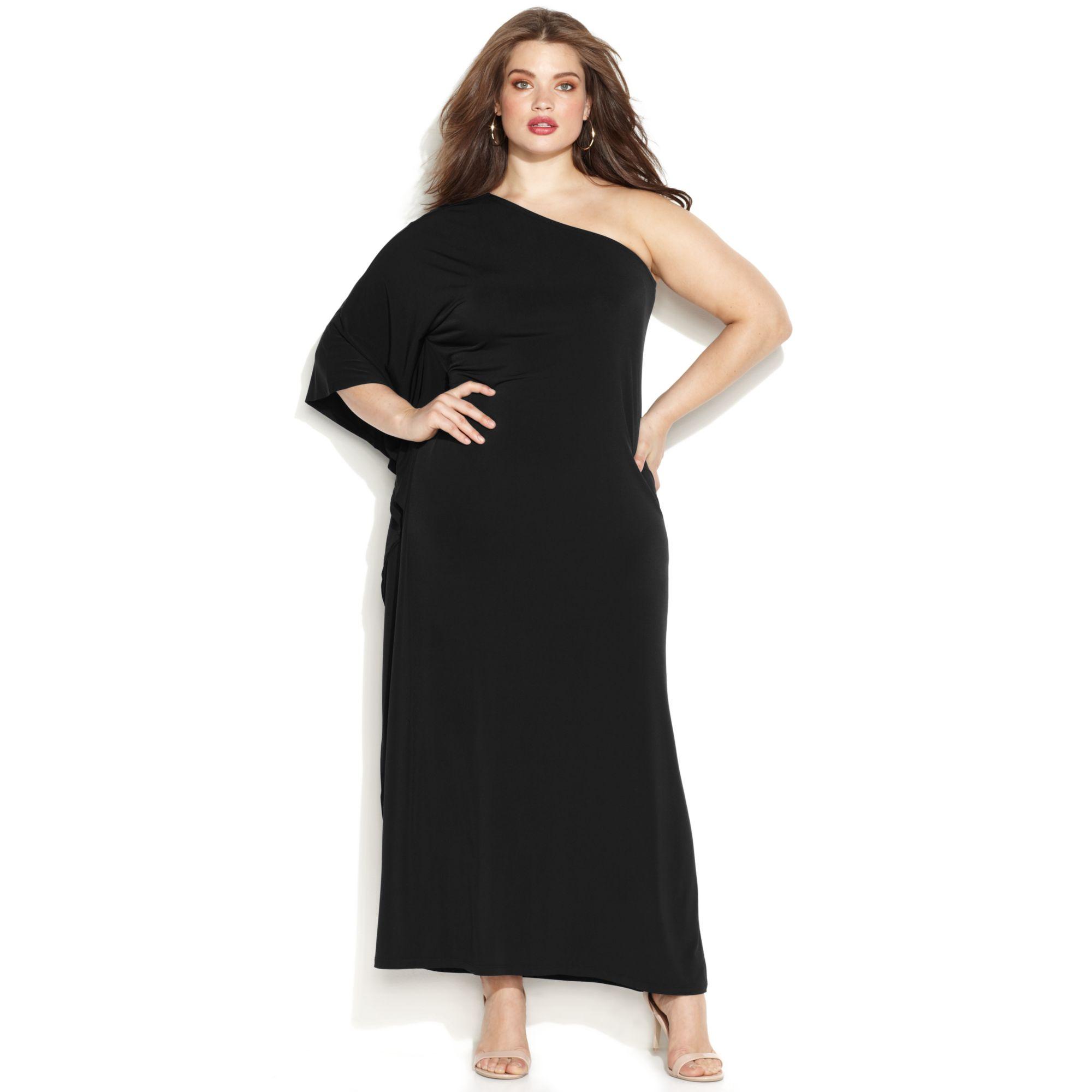 Lyst - Michael kors Michael Plus Size Oneshoulder Dress in ...
