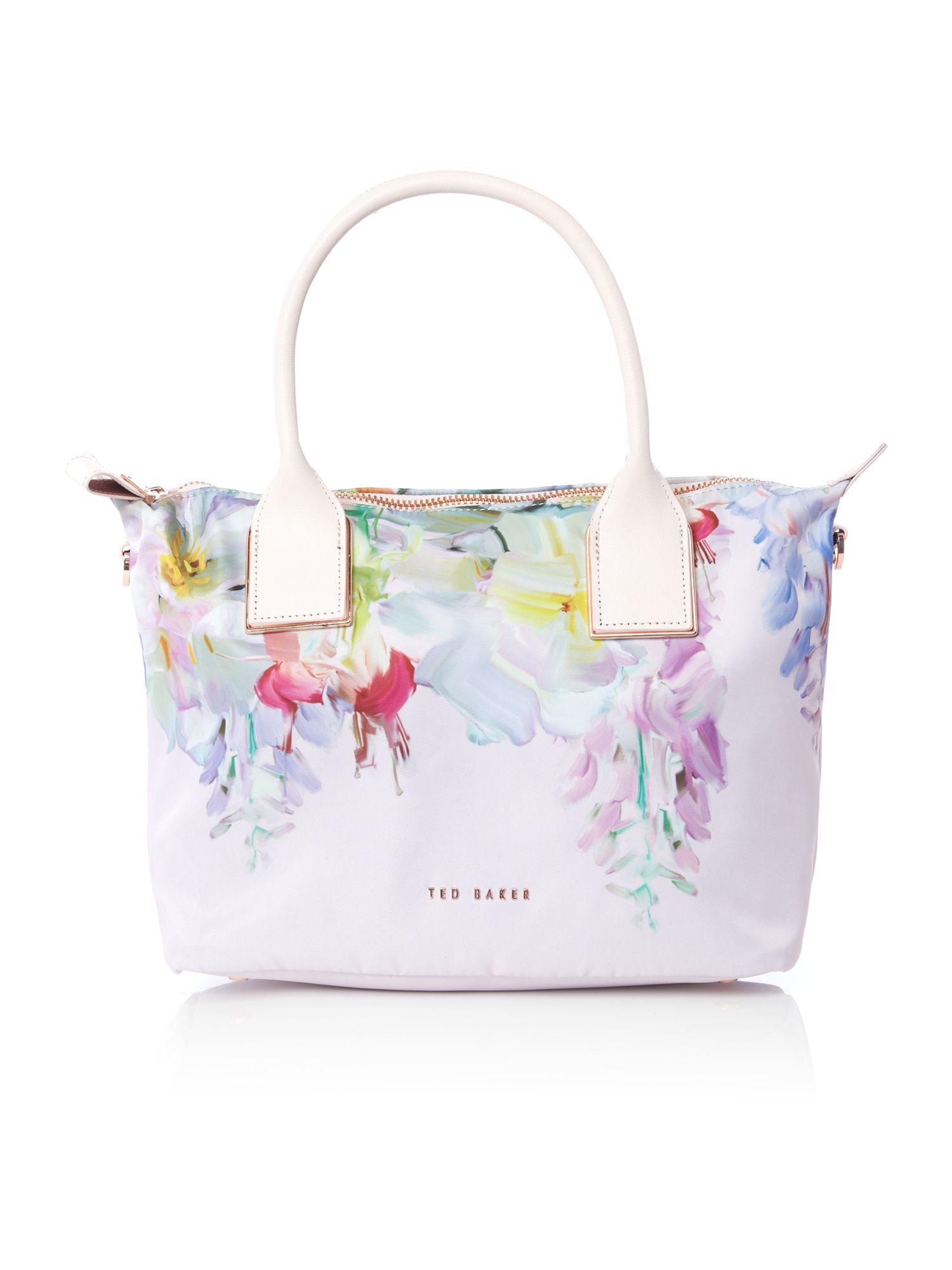 Lyst Ted Baker Ferniy Nylon Light Pink Floral Large Tote Bag