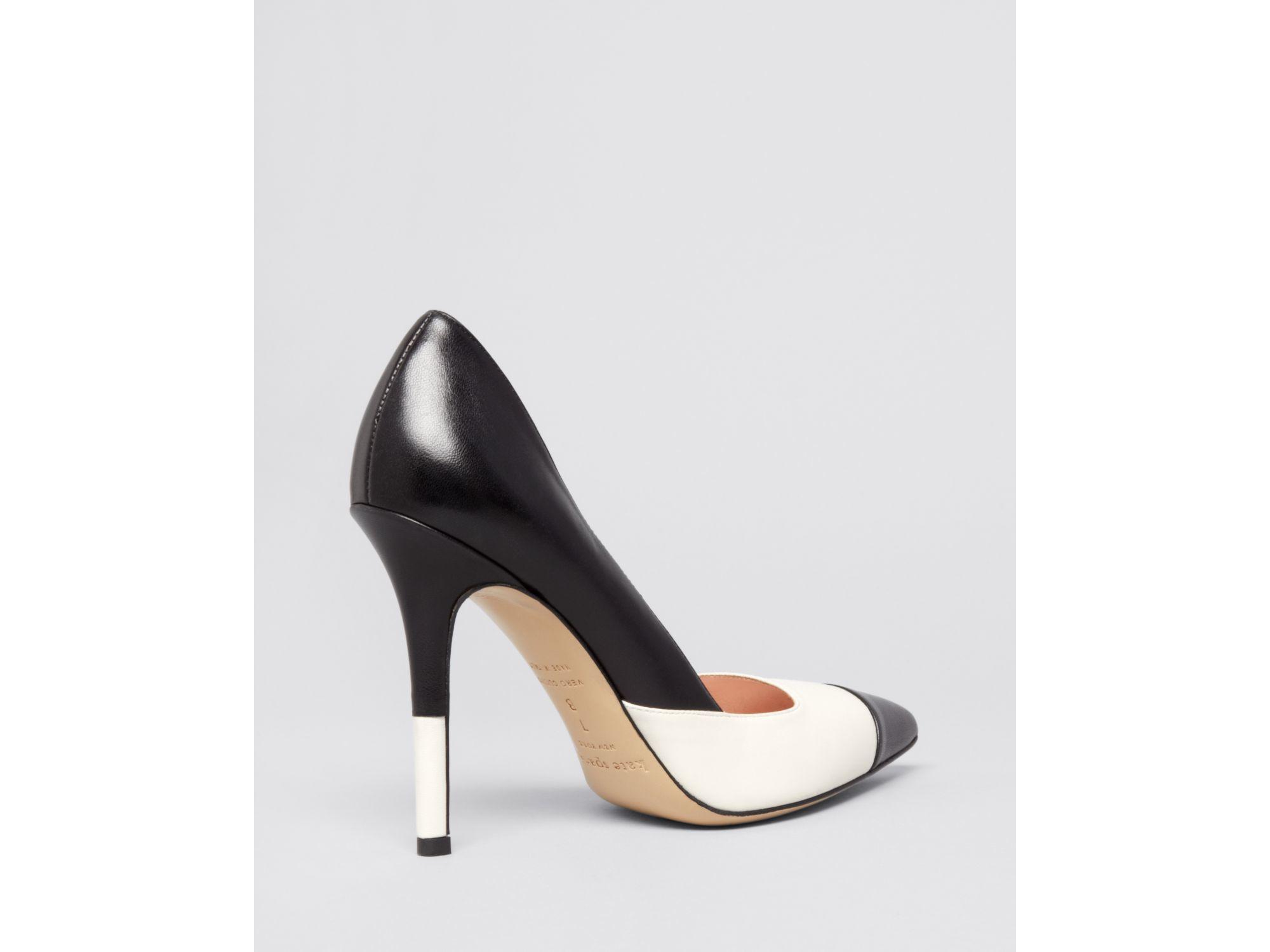 Cream And Black High Heels