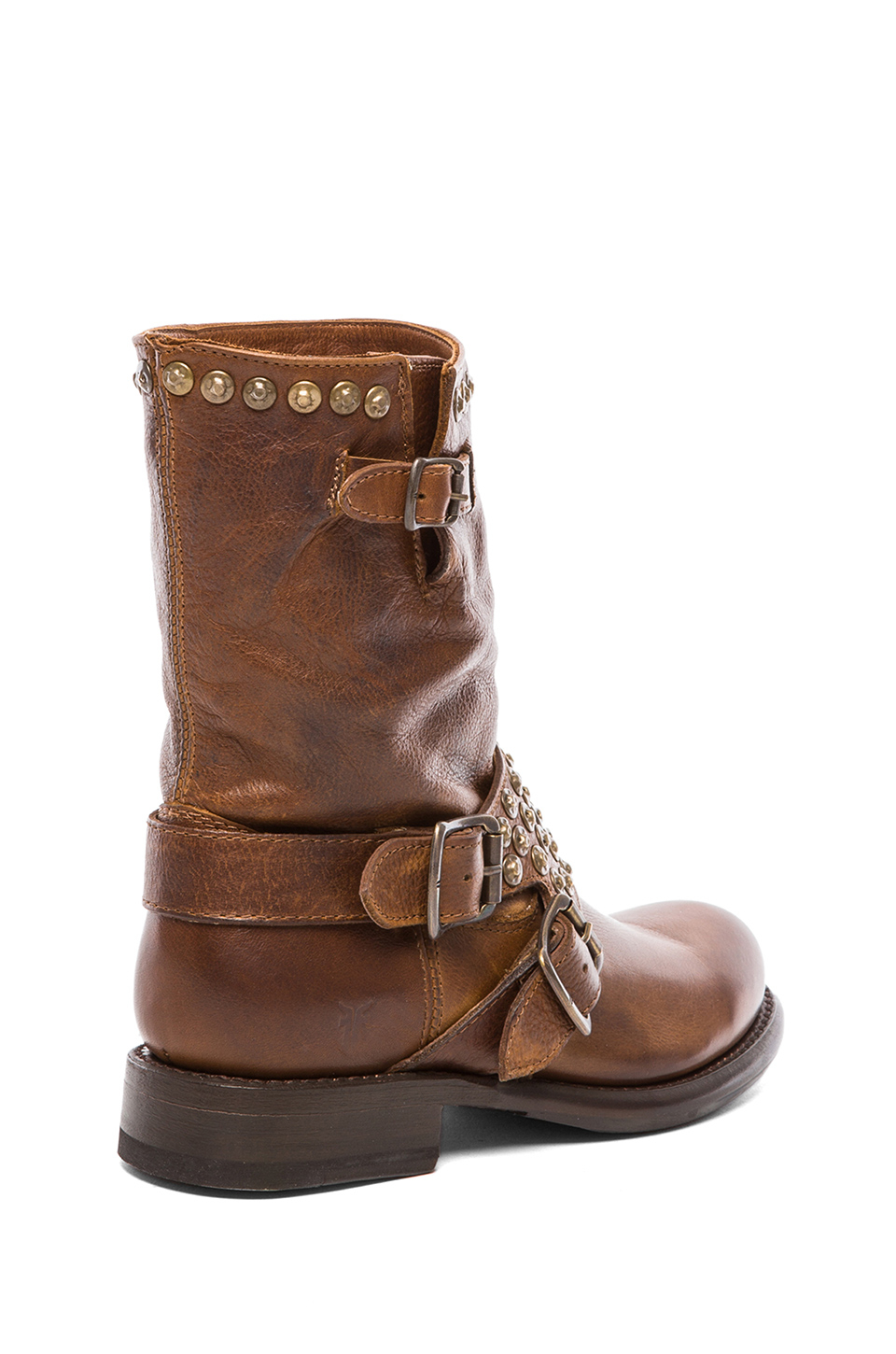 Frye Brown Jenna Studded Short Boot Product Normal