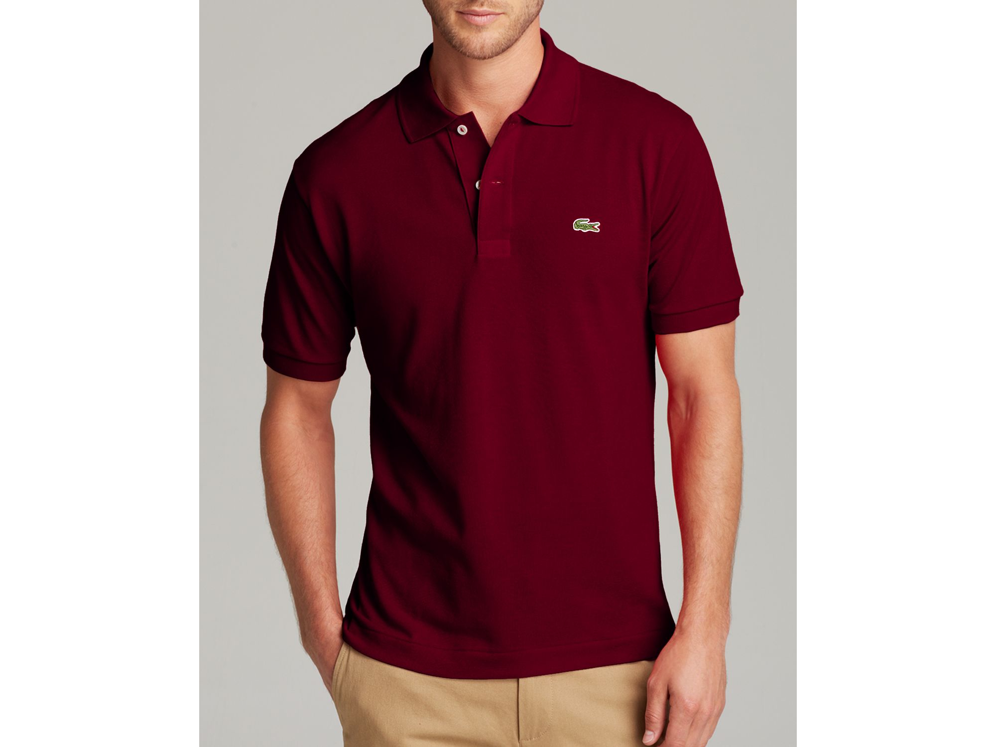 Lyst Lacoste Short Sleeve Piqu Polo Shirt Classic Fit In Purple