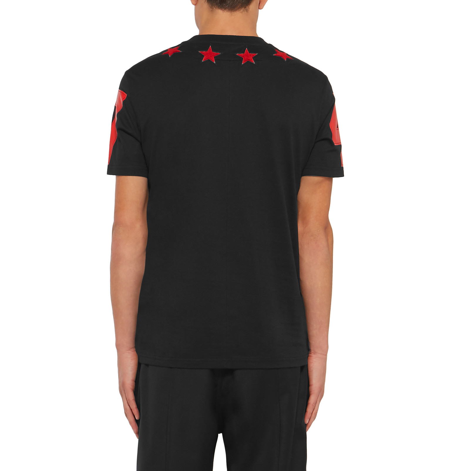 1cb616844ec2a Givenchy Cuban-fit Star-appliqué Cotton-jersey T-shirt in Black for ...