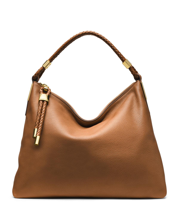 michael kors skorpios top zip hobo bag in brown lyst. Black Bedroom Furniture Sets. Home Design Ideas