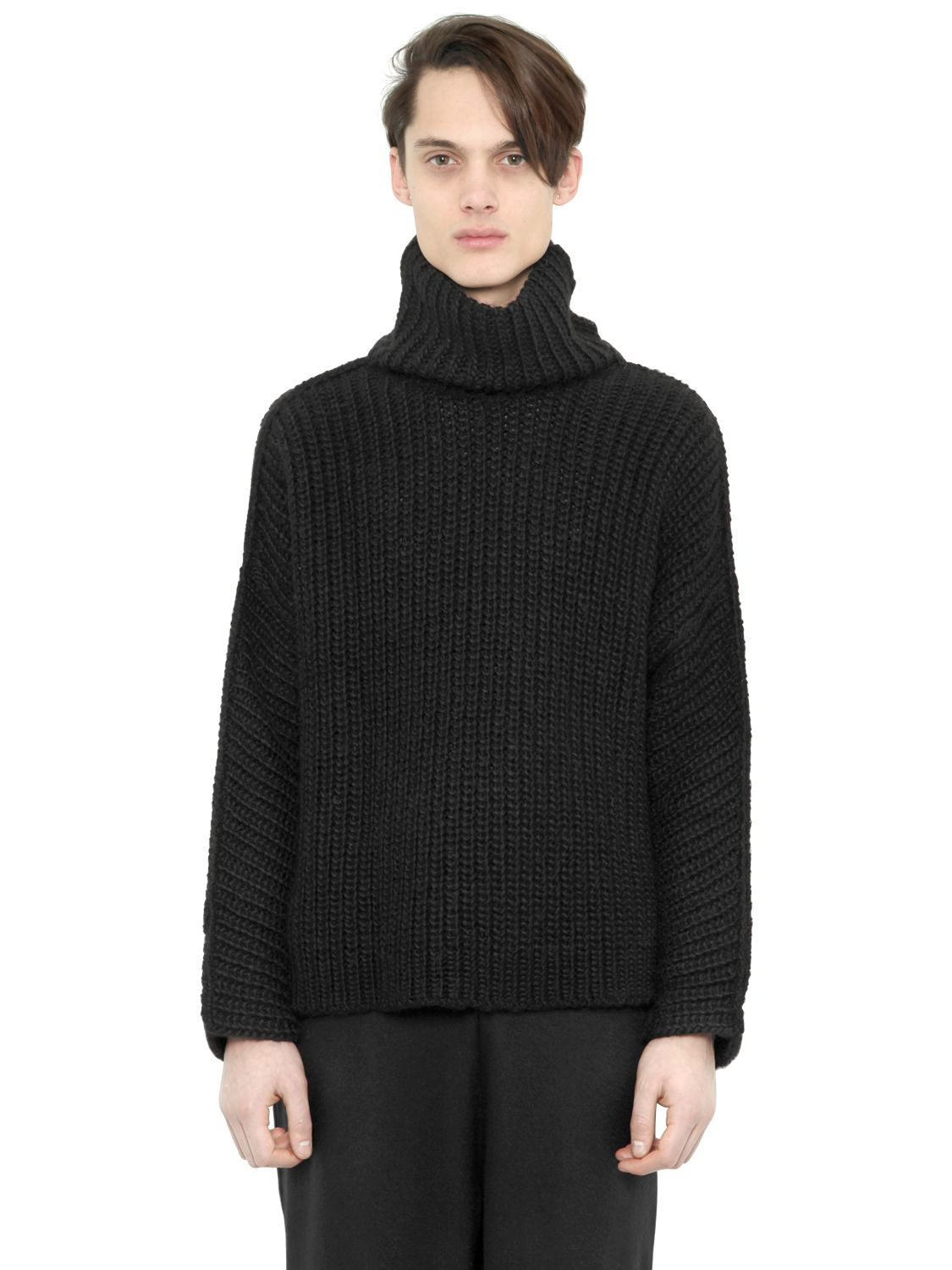 Blood brother Wool Blend Rib Knit Turtleneck Sweater in Black for ...