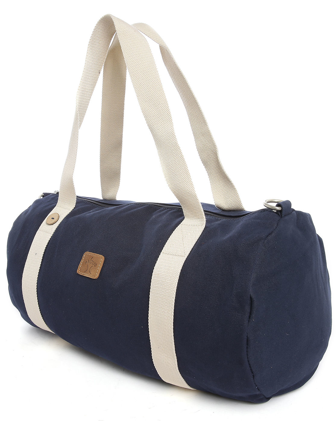 faguo navy canvas duffle bag in blue for chilli lyst