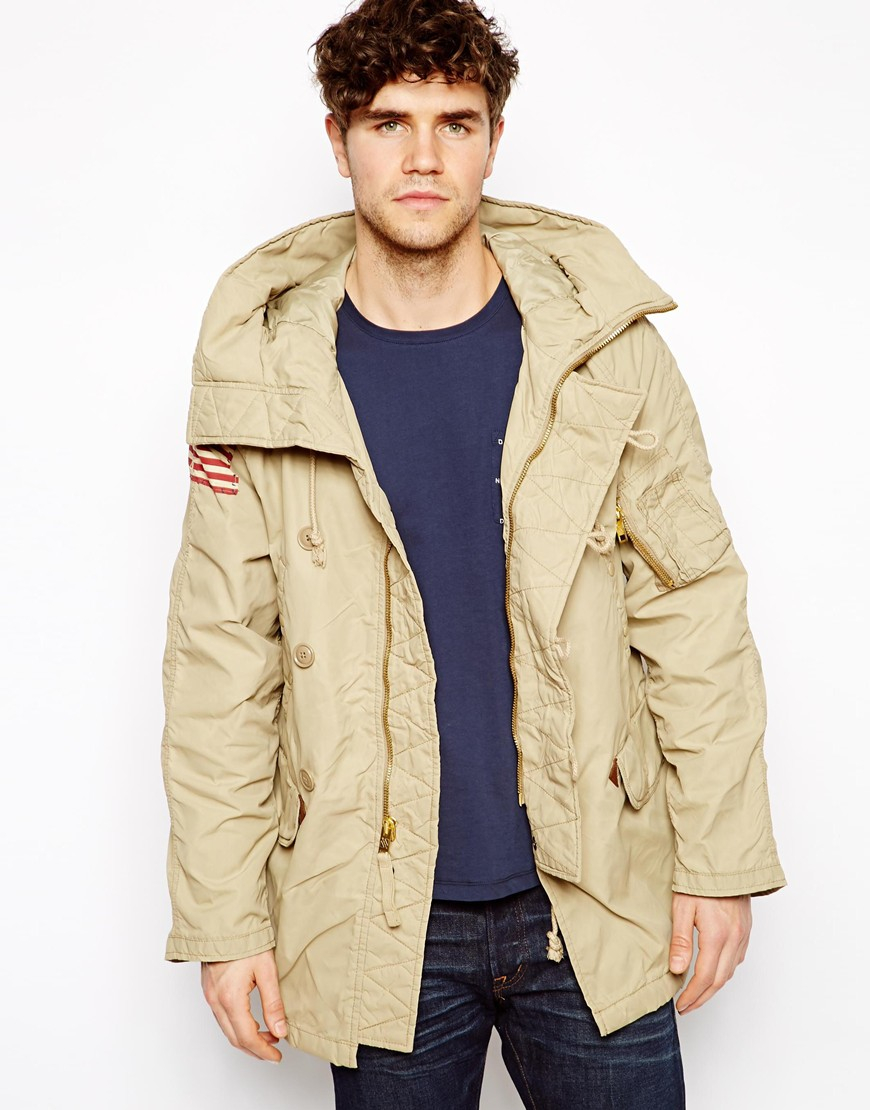 Ralph lauren Denim Supply Ralph Lauren Parka Jacket in Natural for ...