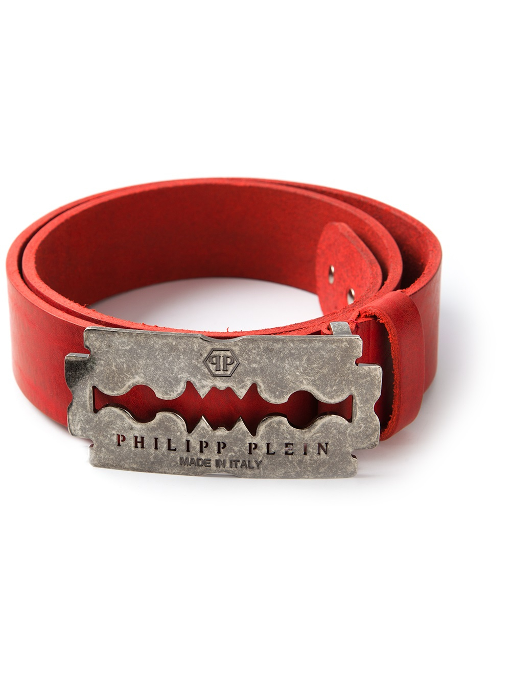Philipp Plein Razor Detail Bracelet In Red For Men Lyst