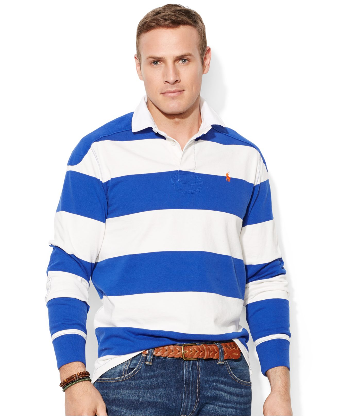 60ce5ee9a ... canada lyst polo ralph lauren big and tall long sleeve stripe rugby  shirt 91f4b db2db