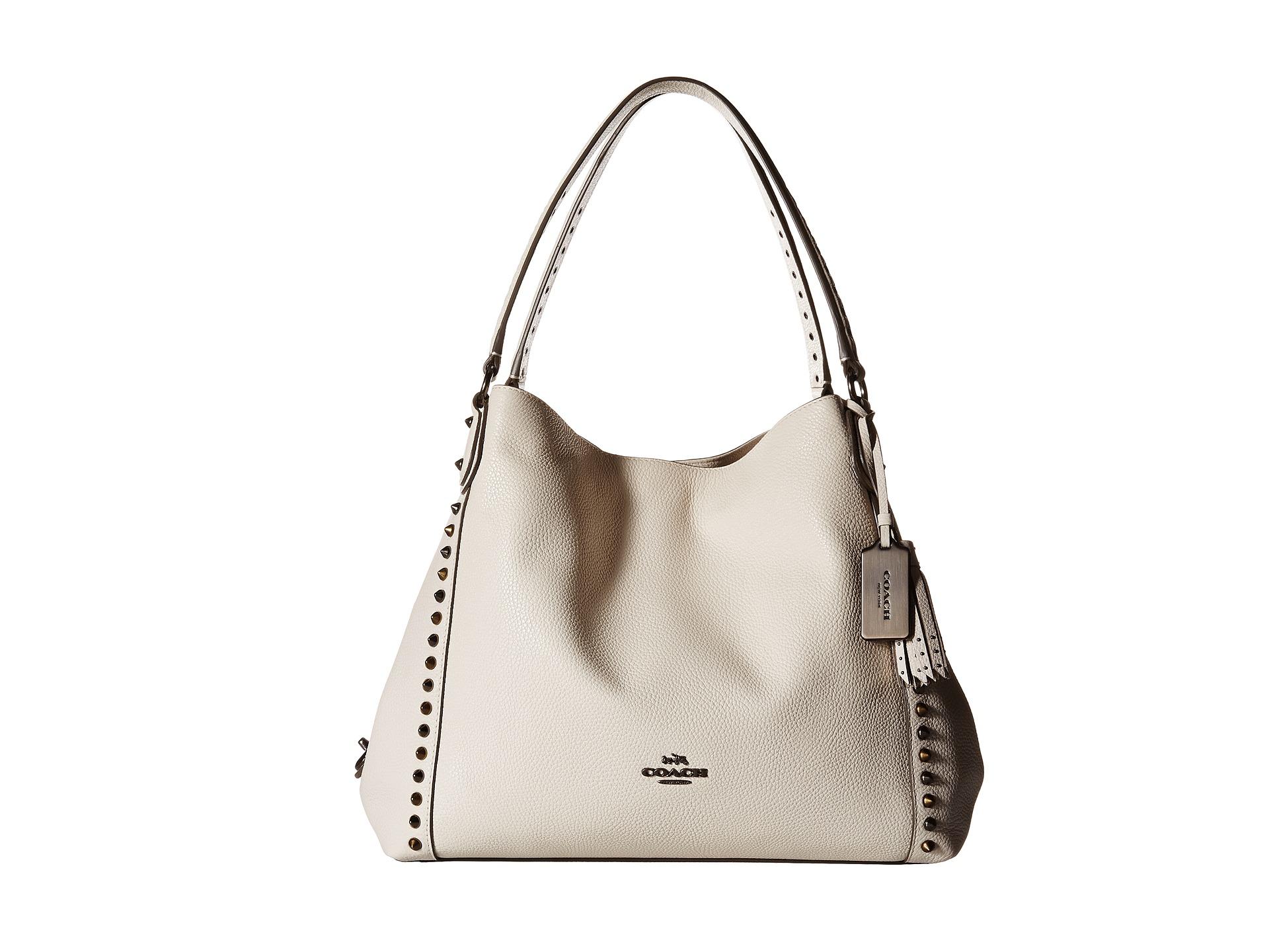 cc2ce13705 ... purchase lyst coach edie 31 shoulder bag in white 32ebb e9948