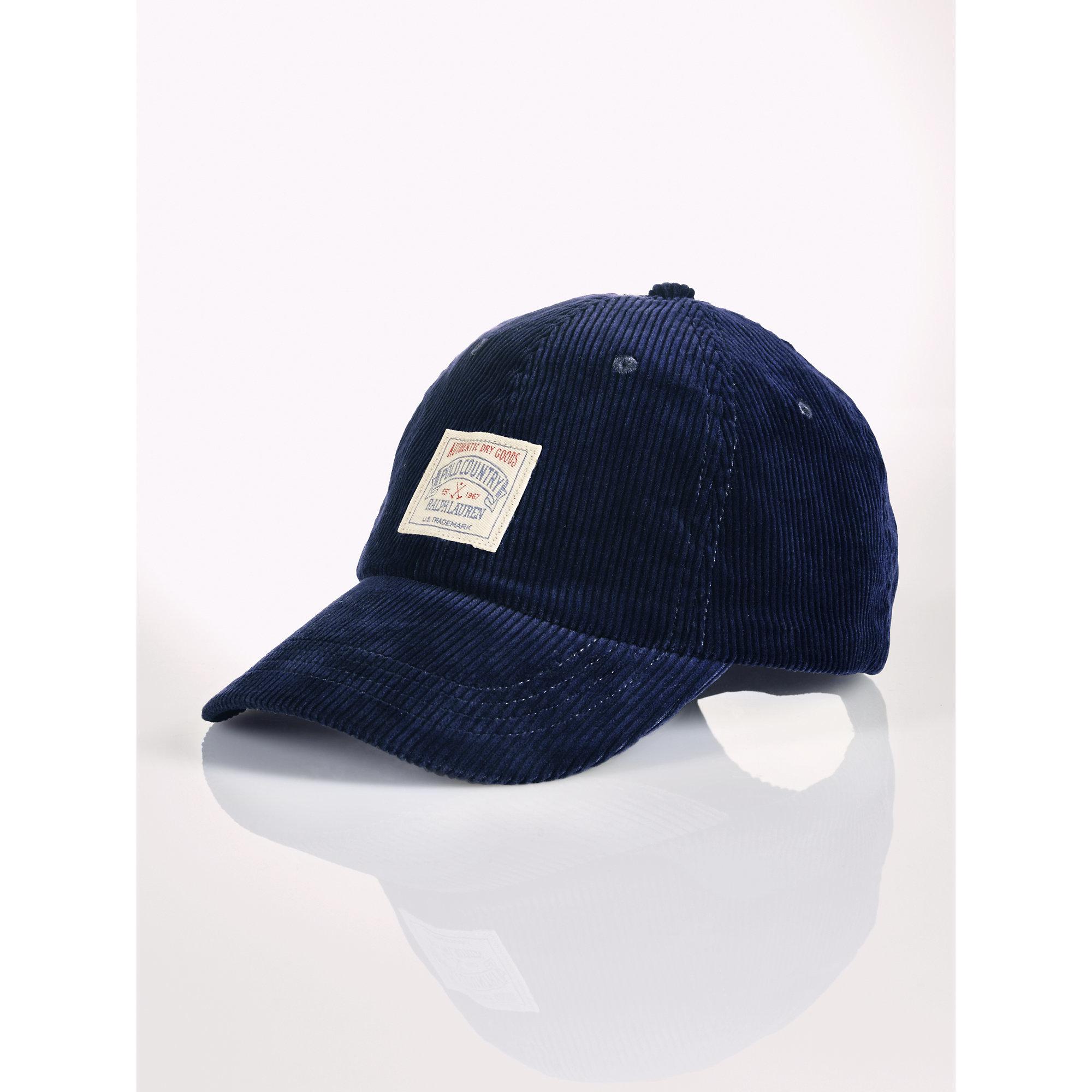 1e7ad1cb30d Lyst - Polo Ralph Lauren Corduroy Hat in Blue for Men