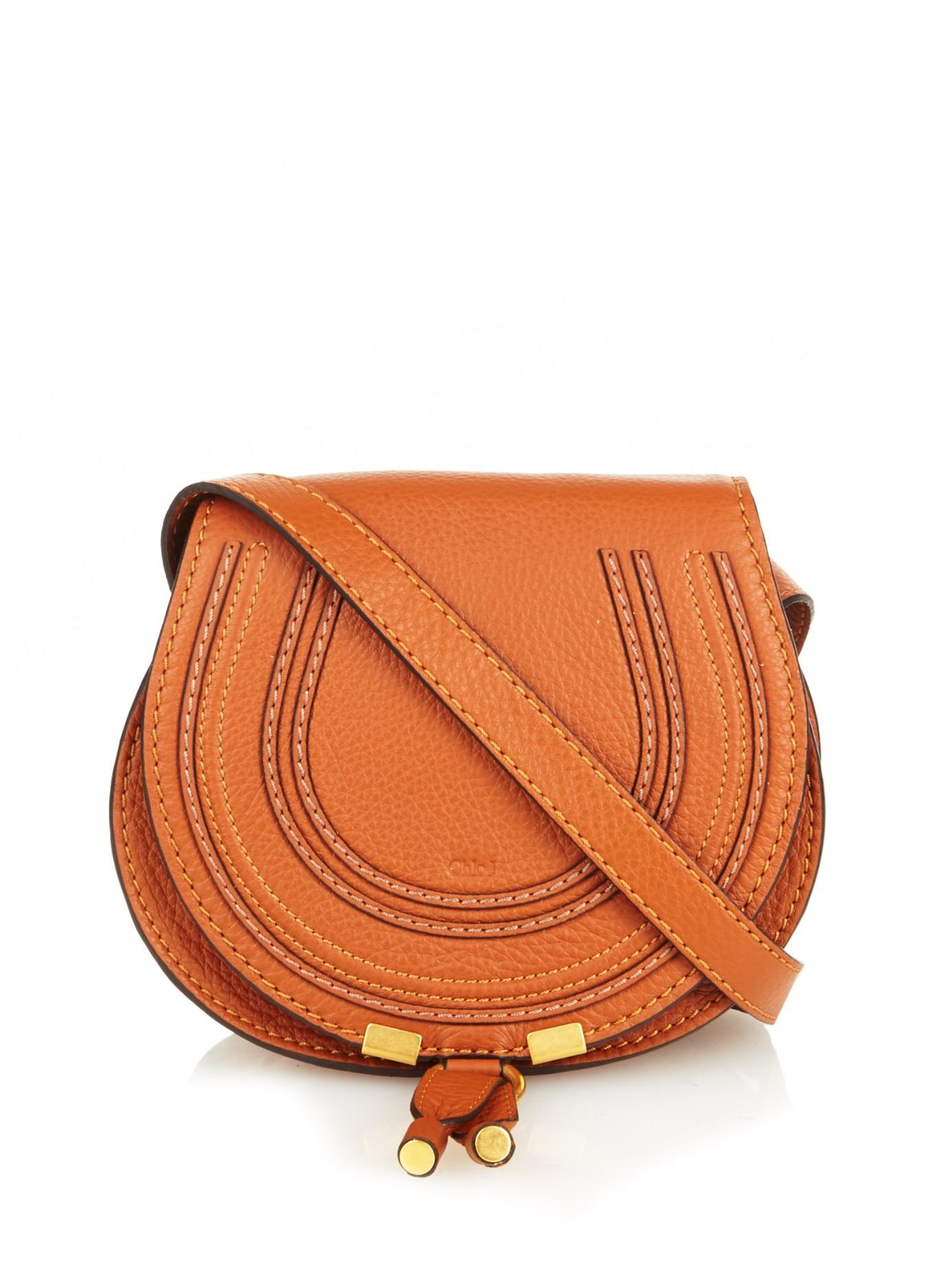 chloe marcie small leather crossbody bag