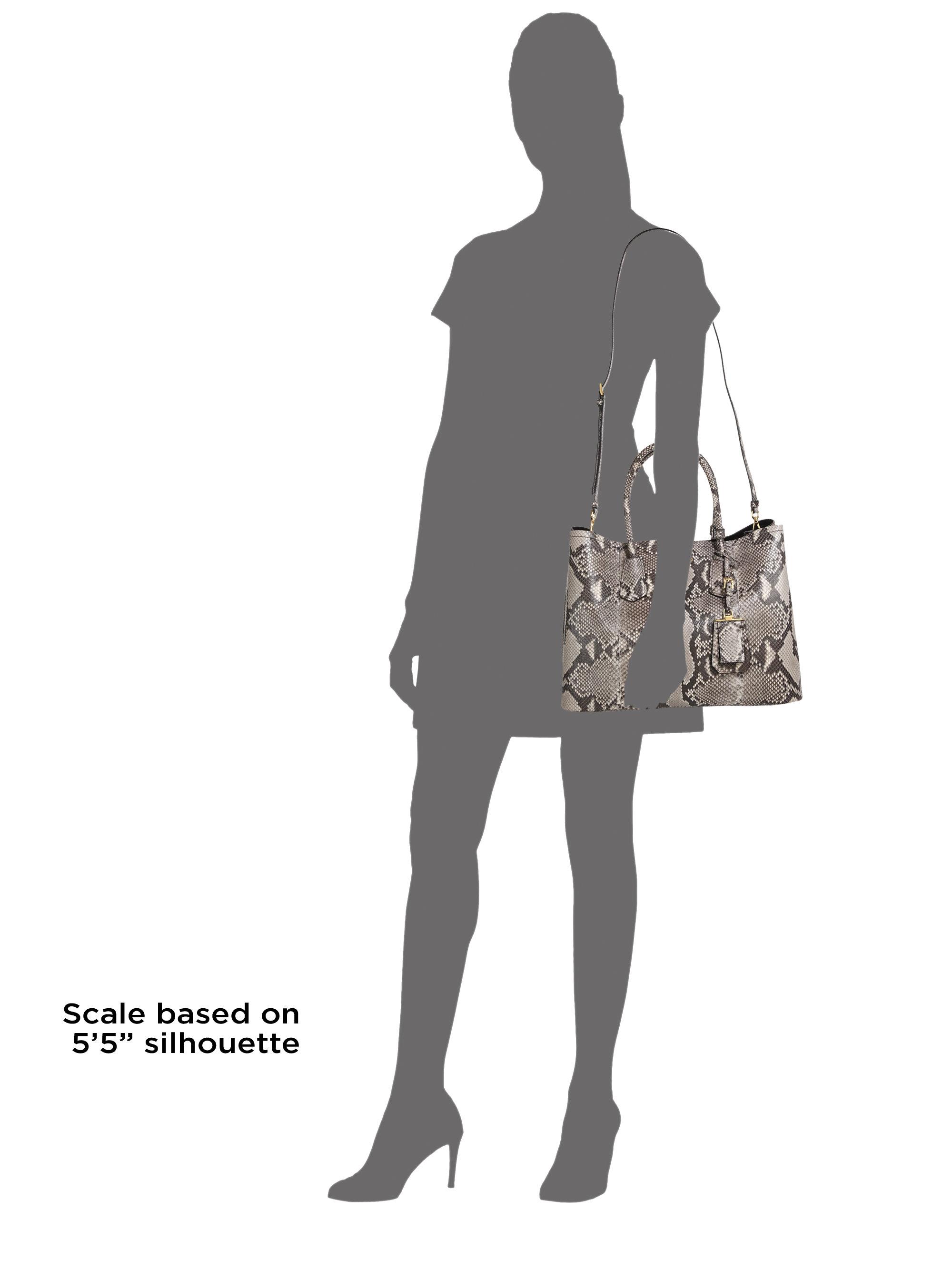 prada nylon collection - Prada Python Medium Double Bag in Gray (ROCCIA) | Lyst