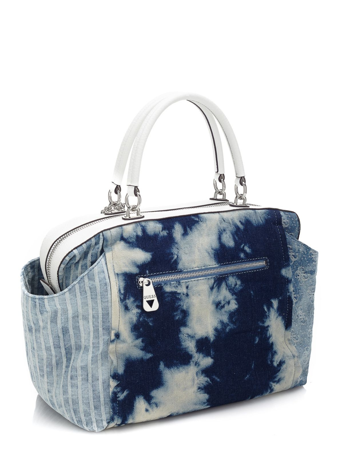 Guess Langley Large Jeans Bag in Blue | Lyst