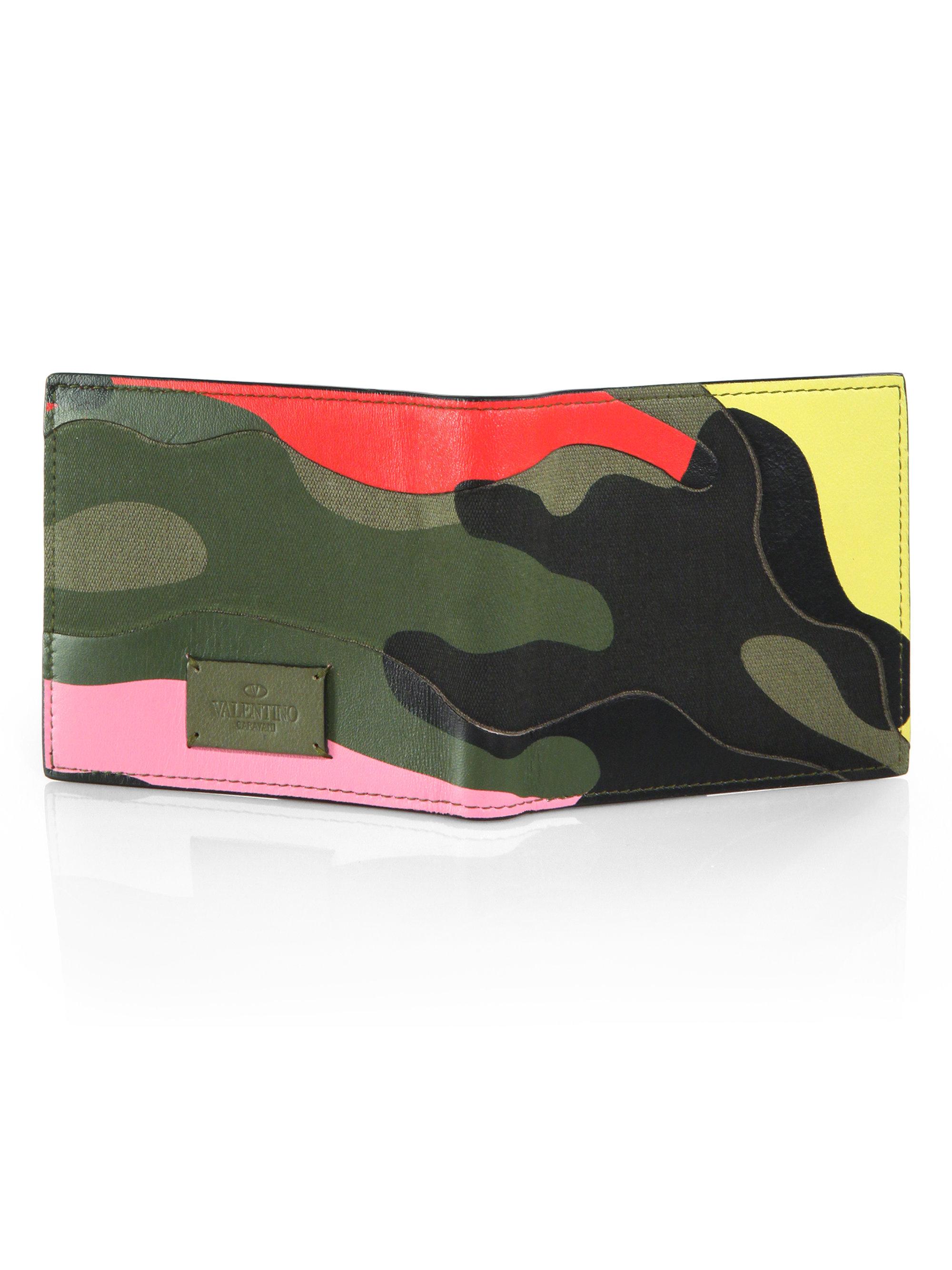 Multicolor camouflage wallet Valentino a6ro87y