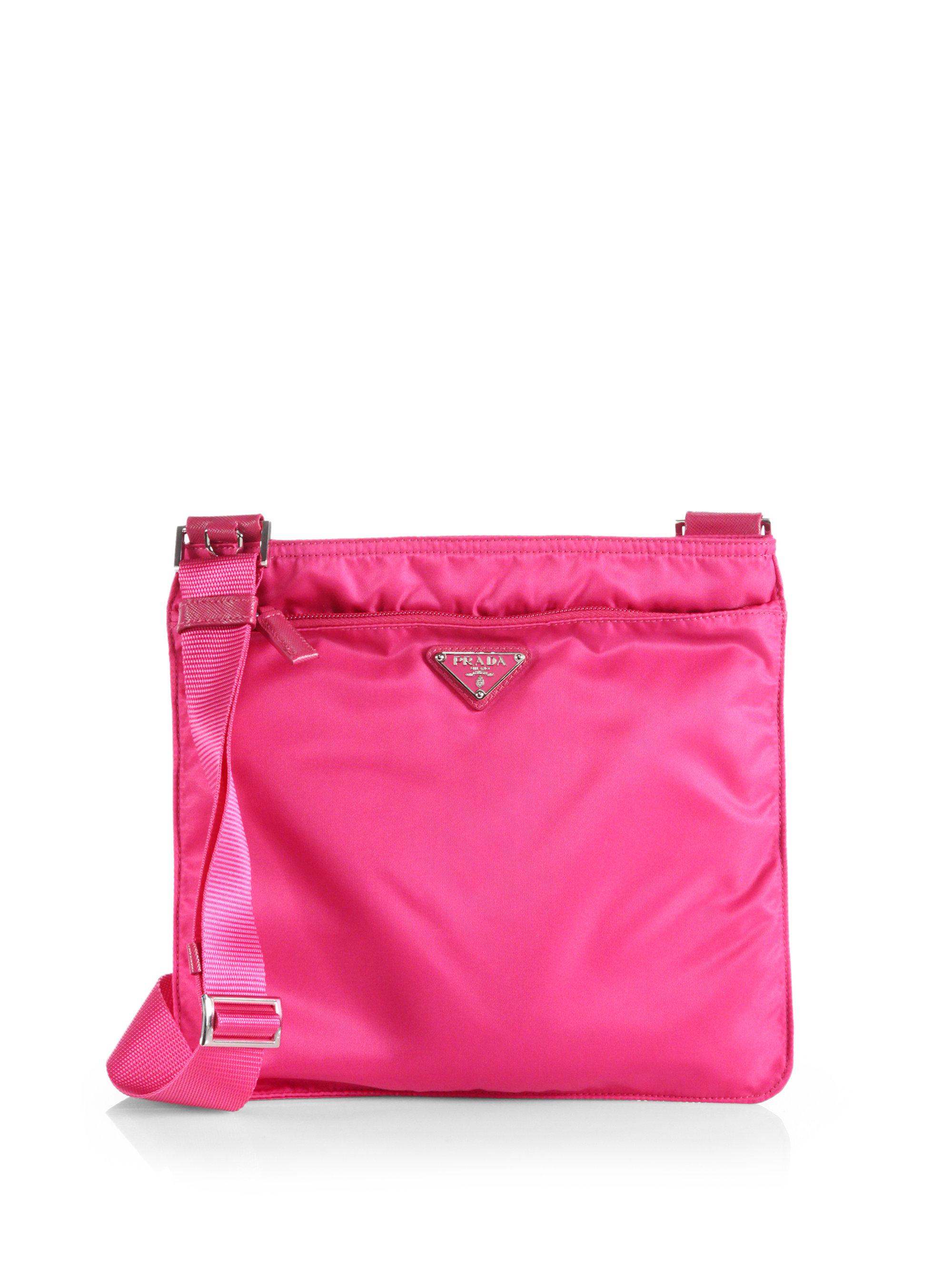 Prada Vela Crossbody Bag in Pink (FUCHSIA) | Lyst