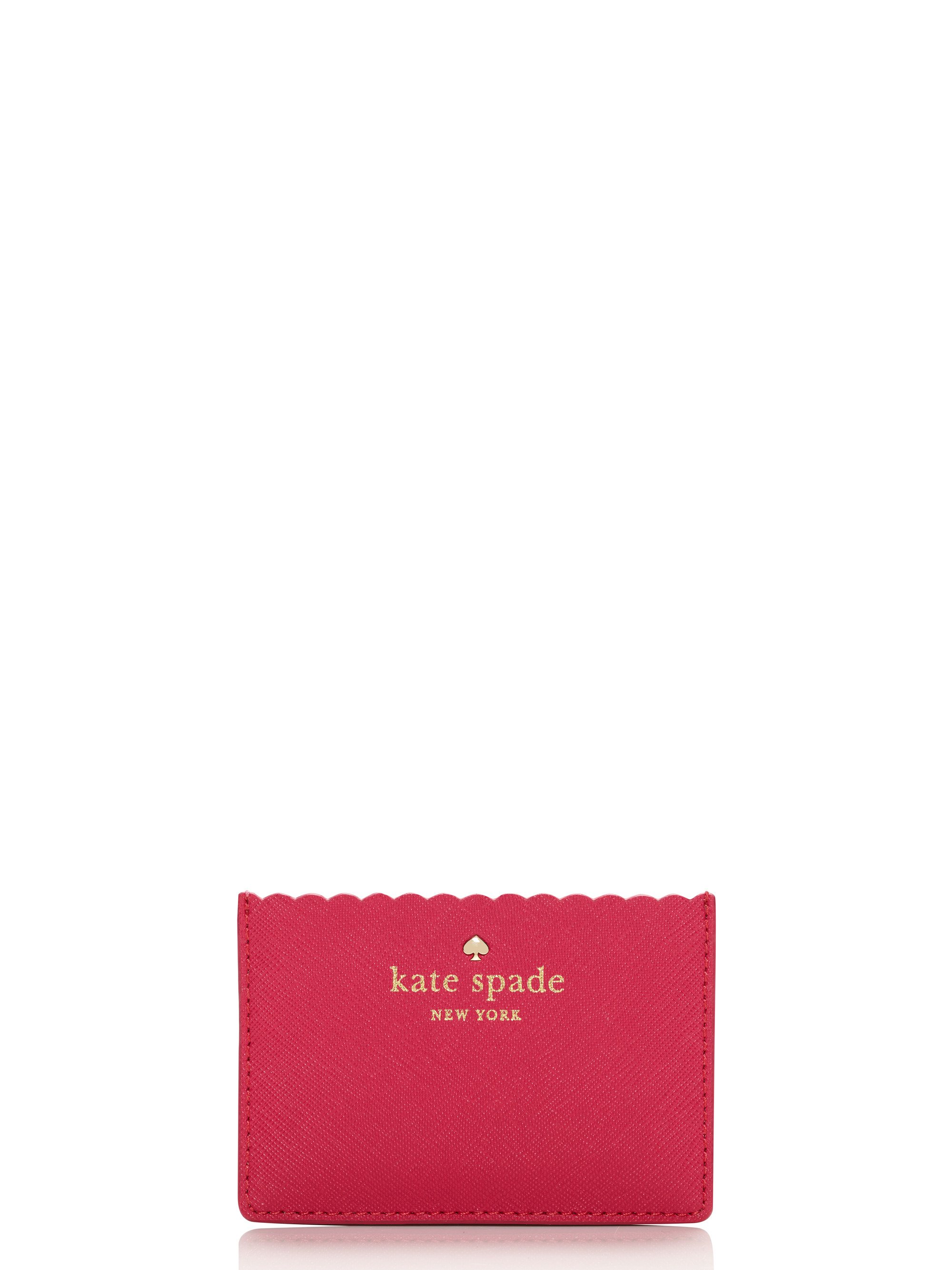 kate spade new york lily avenue card holder in pink  lyst
