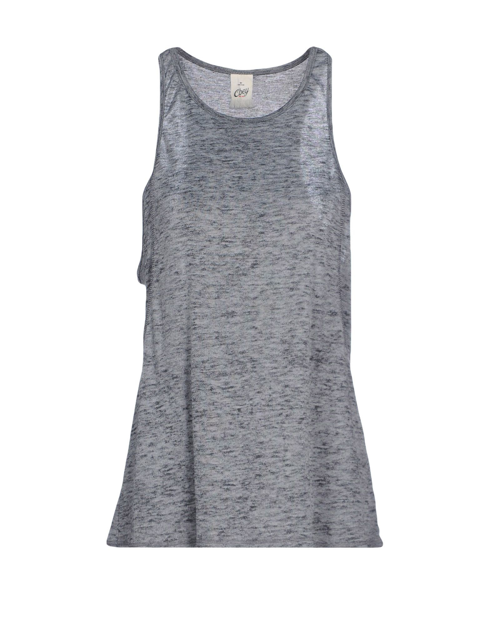 lyst obey tank top in gray. Black Bedroom Furniture Sets. Home Design Ideas