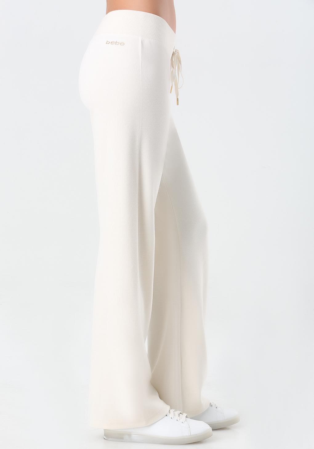 Bebe Logo Velour Pants in White | Lyst