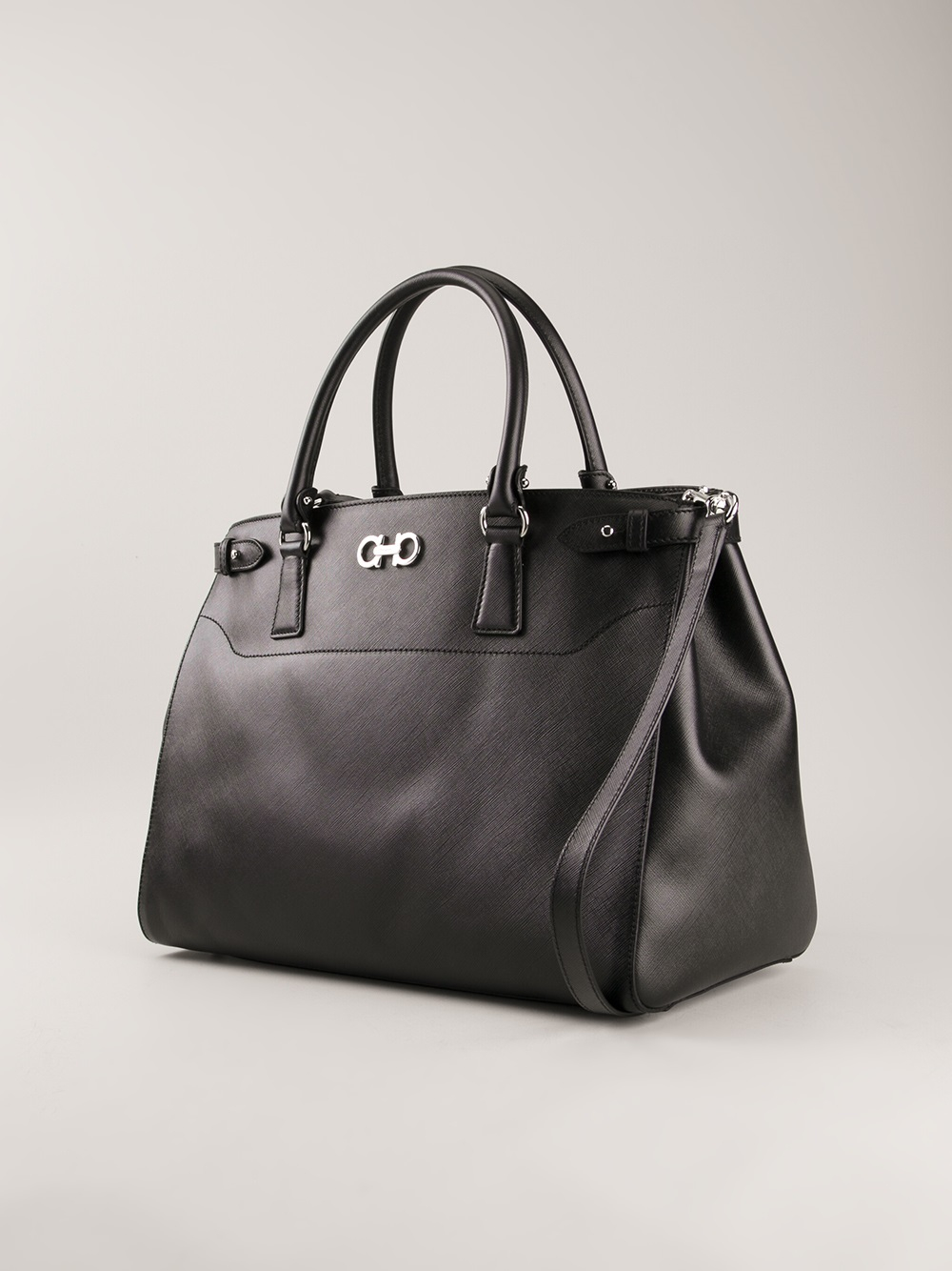 Lyst ferragamo large tote bag in black jpg 1000x1334 Salvatore ferragamo  black handbags fd2b19336a15d