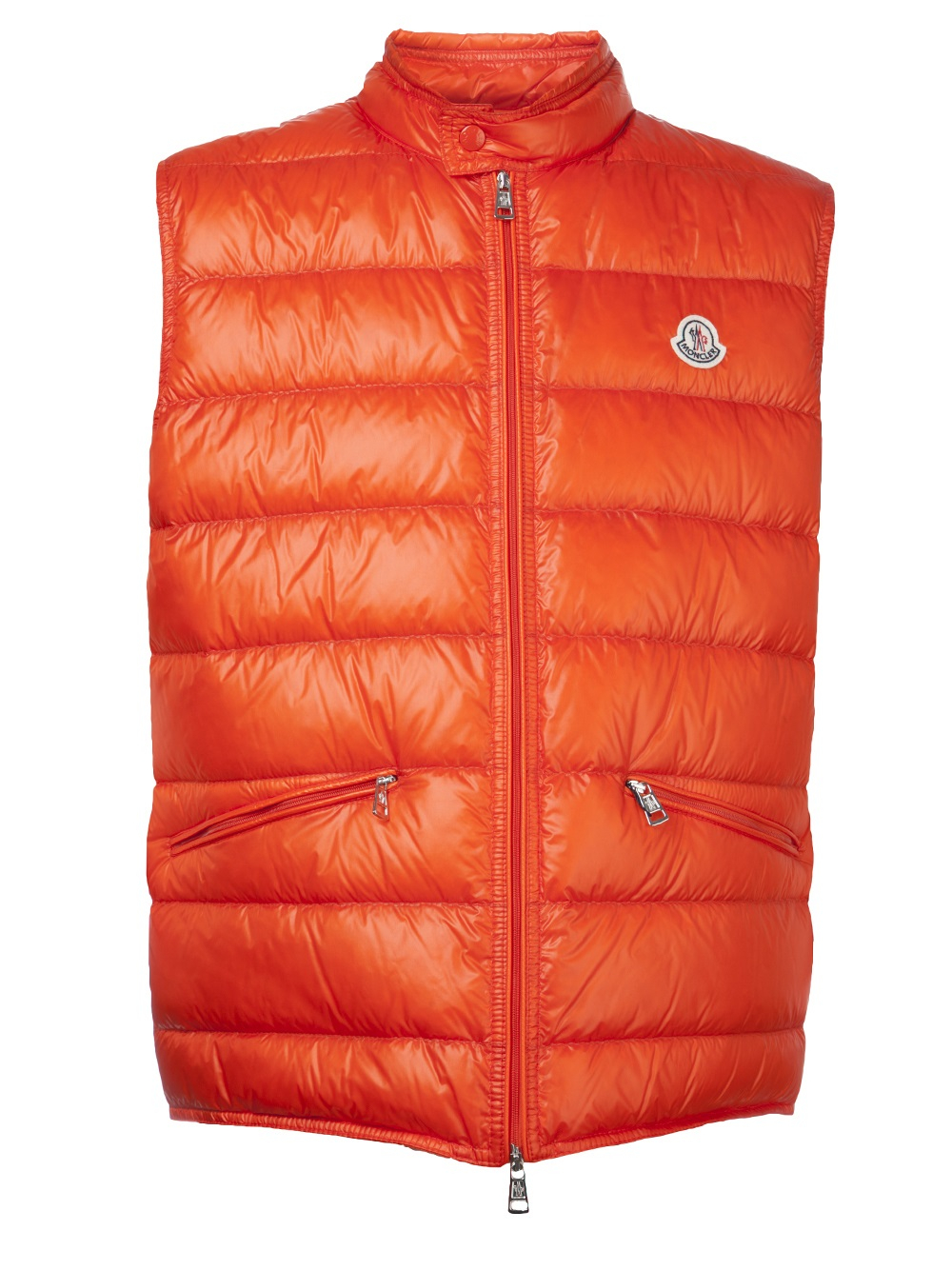 Moncler Puffer Vest In Orange For Men Lyst