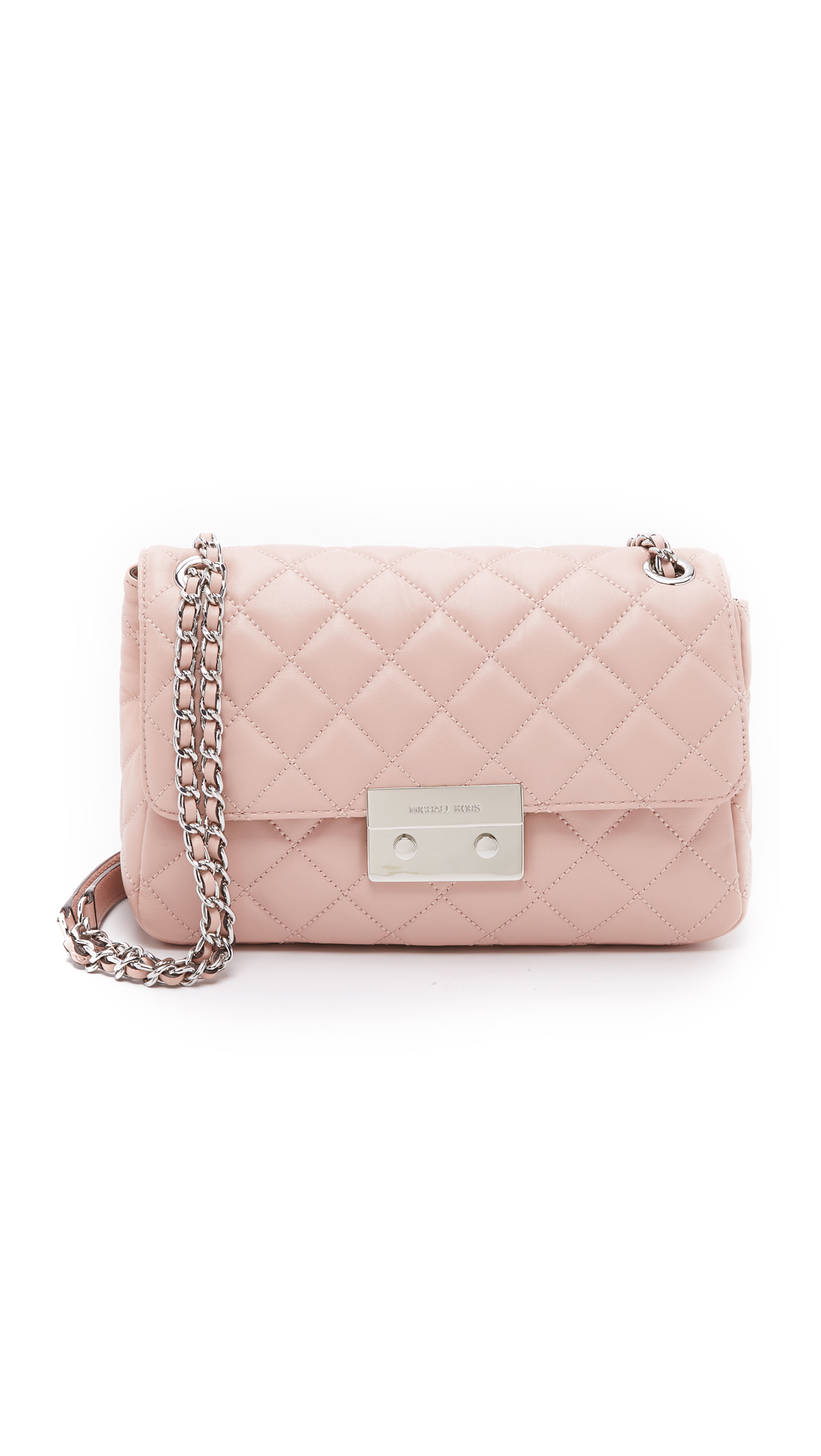 93a5f457e6a ... uk michael michael kors sloan large chain shoulder bag ballet in pink  93a07 84975