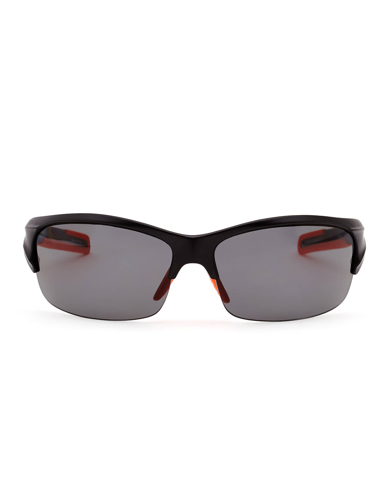 456640bcc1d Lyst - Puma Pu14704P Black Half-Rim Wrap Polarized Sunglasses in ...
