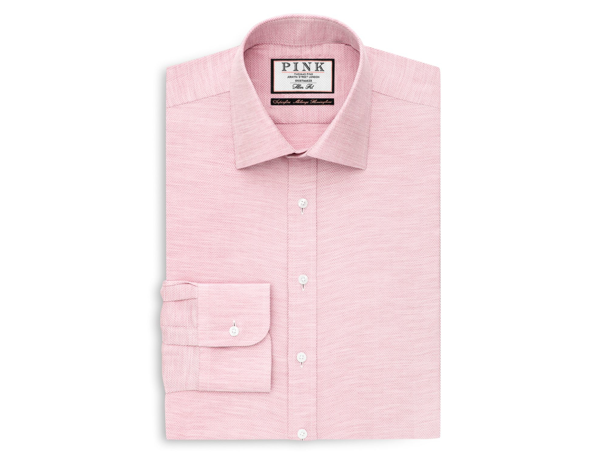 Thomas pink Deane Texture Regular Fit Dress Shirt in Pink for Men ...