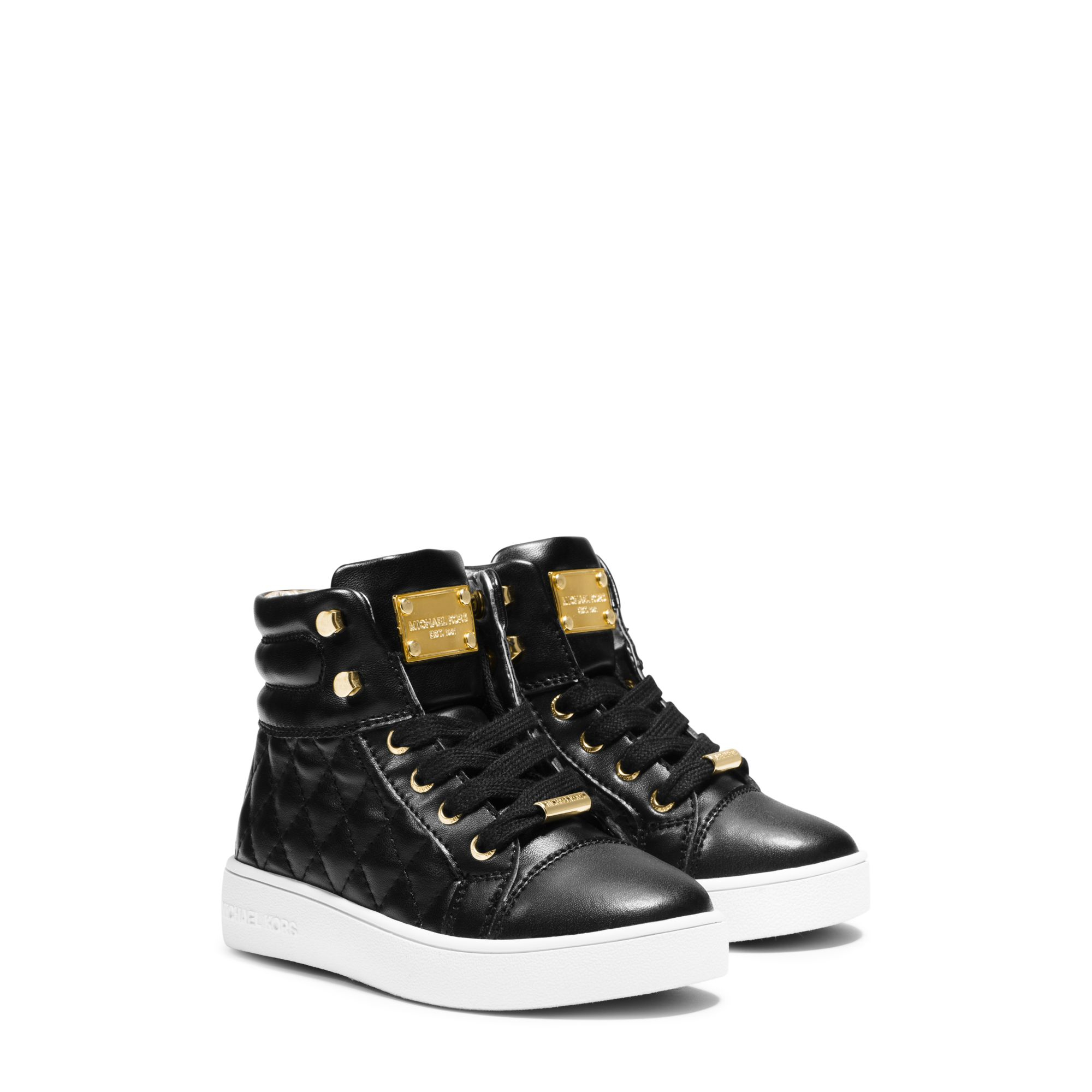 7e86e71f3e1 Lyst - Michael Kors Girl s Ivy Quilted High-top Sneaker