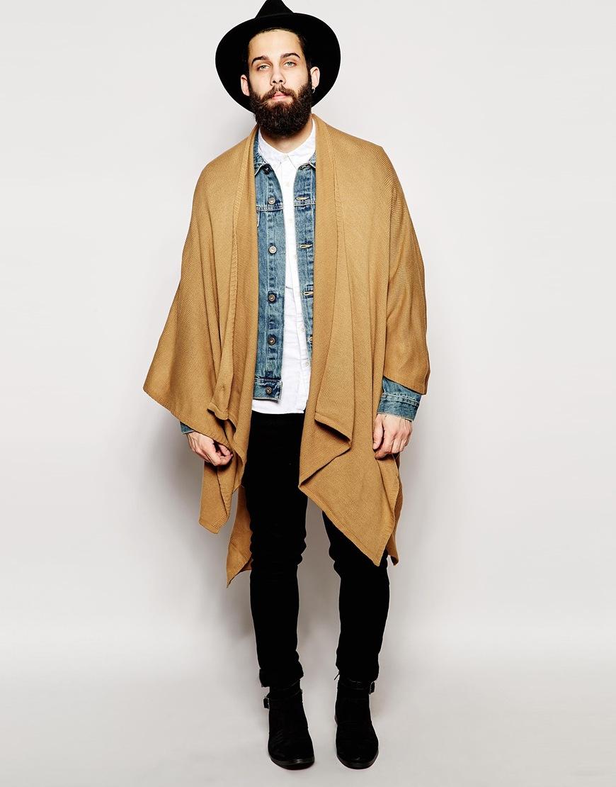 Asos Cape In Camel In Brown For Men