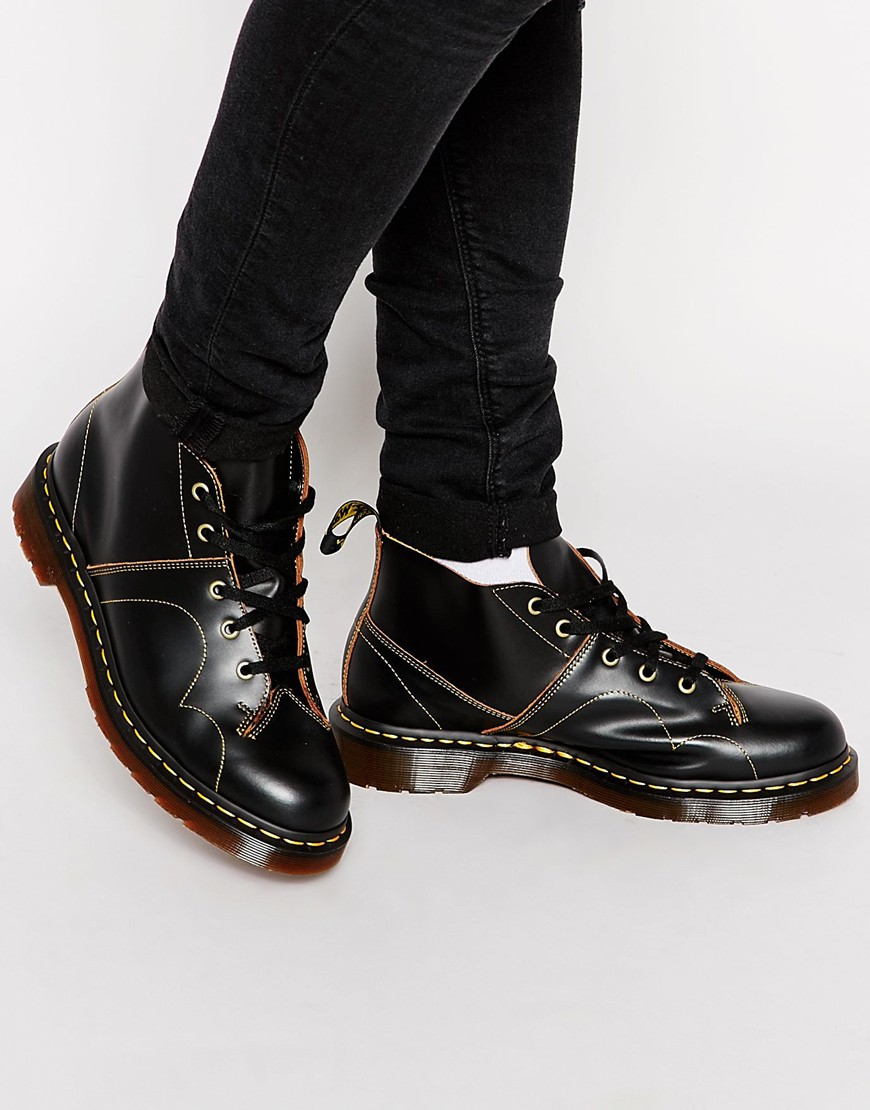 Dr Martens Monkey Boots Black In Black Lyst