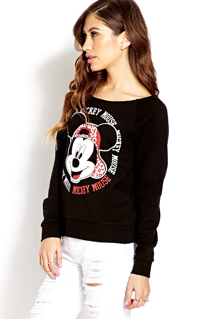 21 Mickey Mouse Nail Art Designs Ideas: Forever 21 Mickey Mouse Sweatshirt You've Been Added To