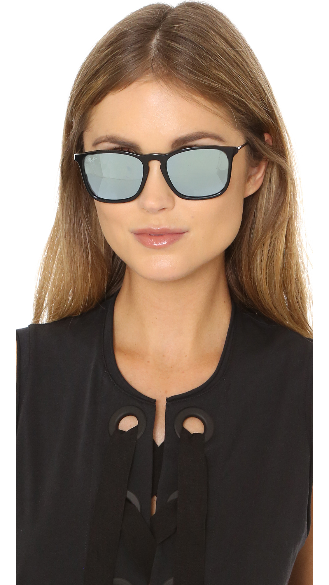 Ray Ban Chris Sunglasses In Black Lyst