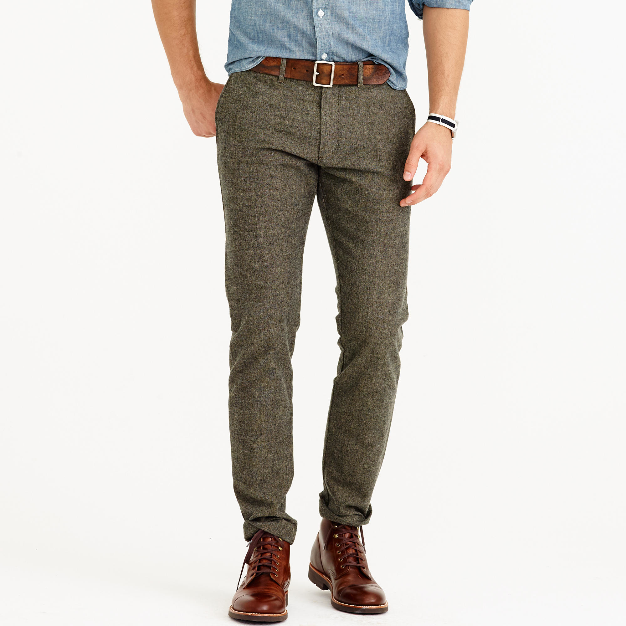 J.crew Brushed Cotton Twill Mélange Chino In 484 Fit in ...