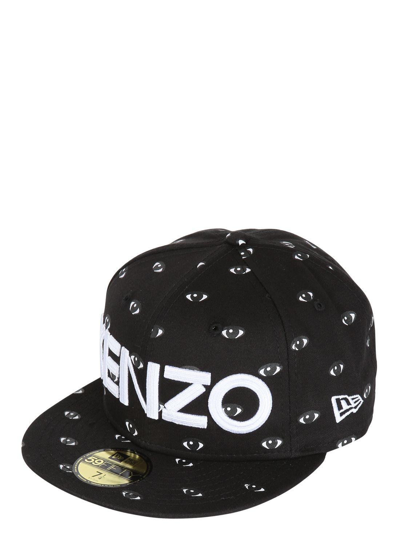 Lyst - KENZO Eye Printed Baseball Hat in Black for Men d247279d0e0