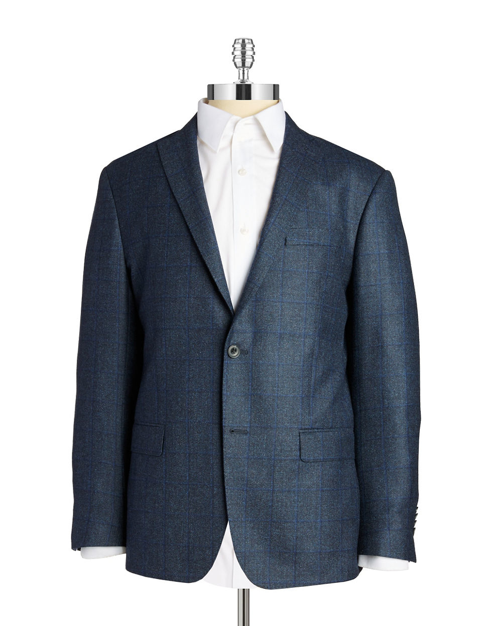 michael kors two button wool blazer in blue for men lyst. Black Bedroom Furniture Sets. Home Design Ideas