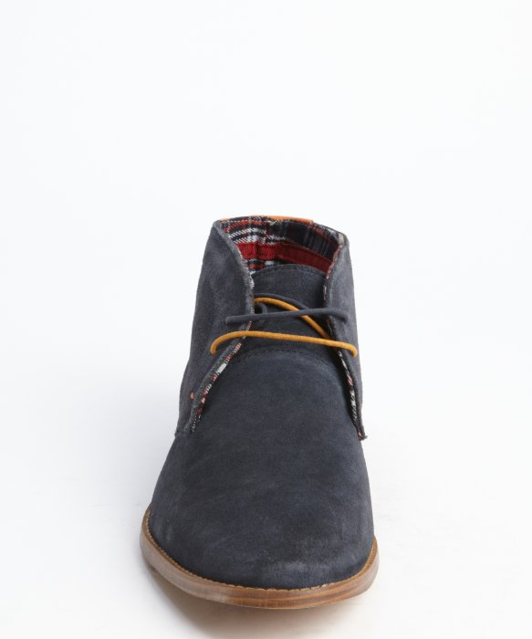 Ben sherman Navy Blue Suede 'Bailey' Chukka Boots in Blue for Men ...