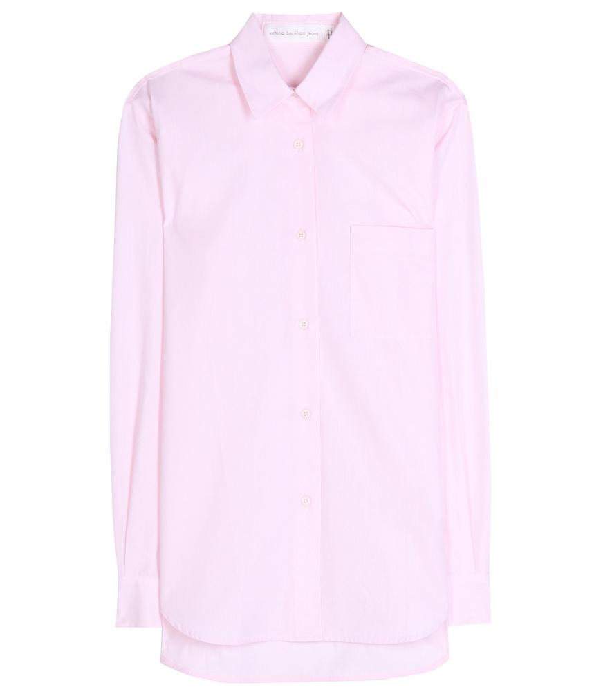 Victoria Beckham Cotton Shirt In Pink Lyst