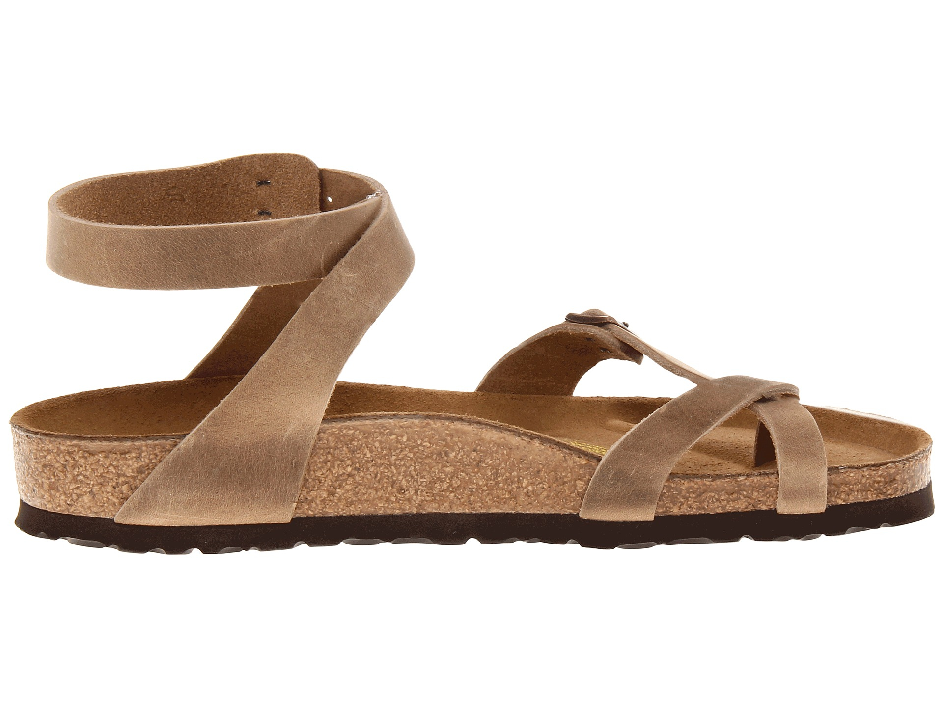 ce3507abd3cf Lyst - Birkenstock Yara Oiled Leather in Brown