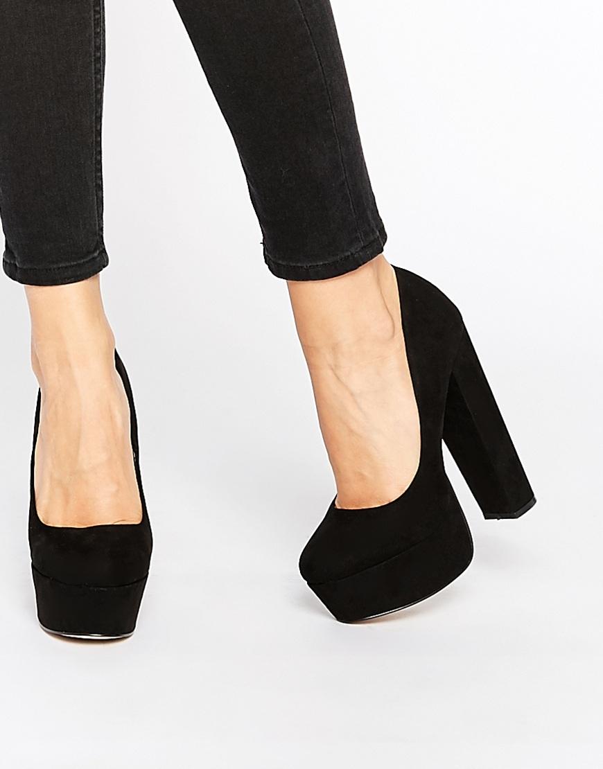 14ab09b9c9 Carvela Kurt Geiger Ariel Black Platform Court Shoes in Black - Lyst