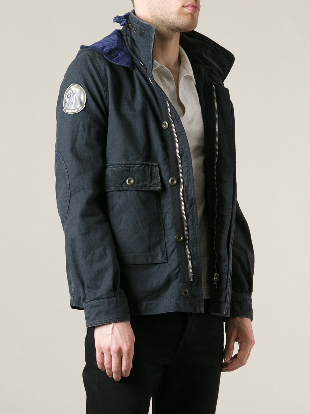 Golden goose deluxe brand Padded Parka Jacket in Blue for Men | Lyst