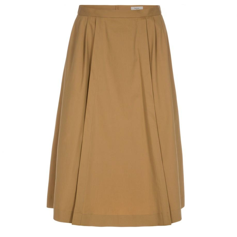 paul smith s cotton pleated skirt in lyst