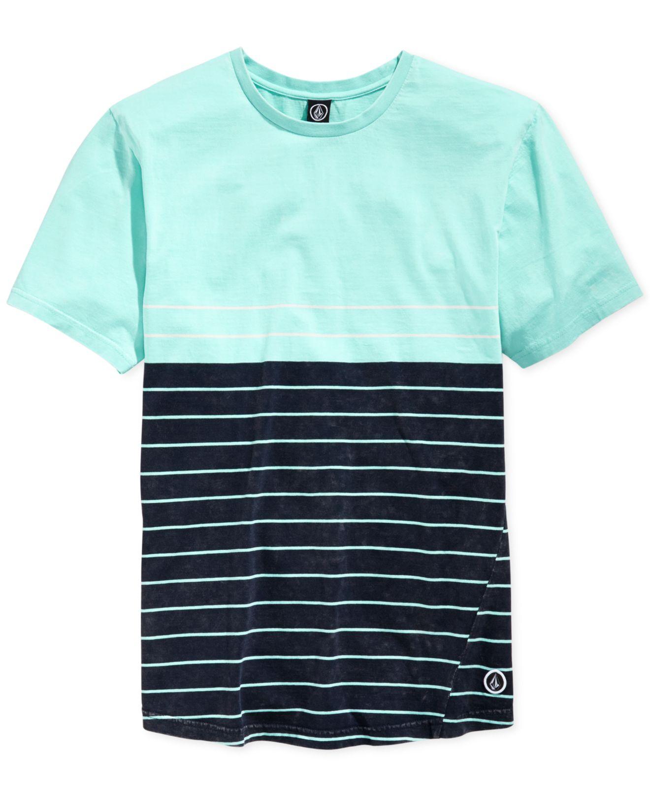 ebb8e6cf Volcom Ogden Striped T-shirt in Green for Men - Lyst