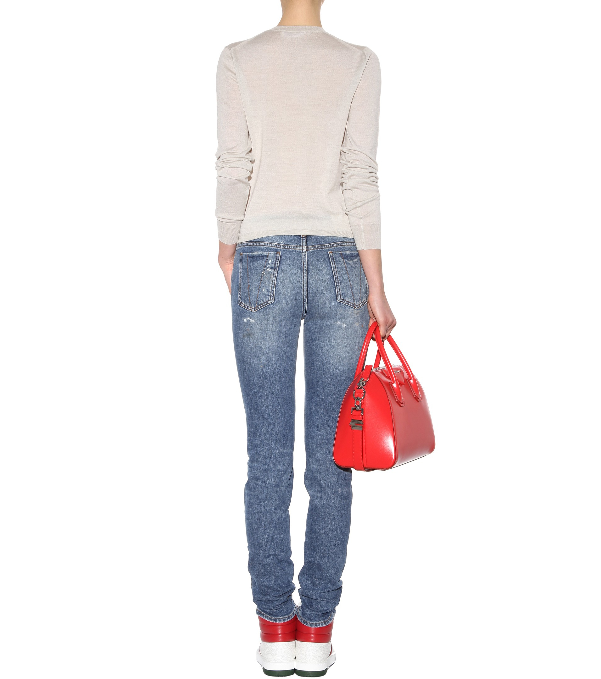 Lyst Victoria Beckham Superskinny Jeans In Blue