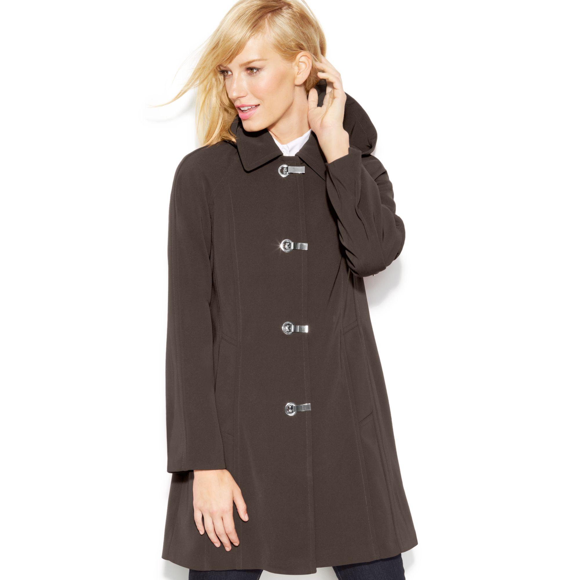 london fog a line raincoat in brown dark truffle lyst