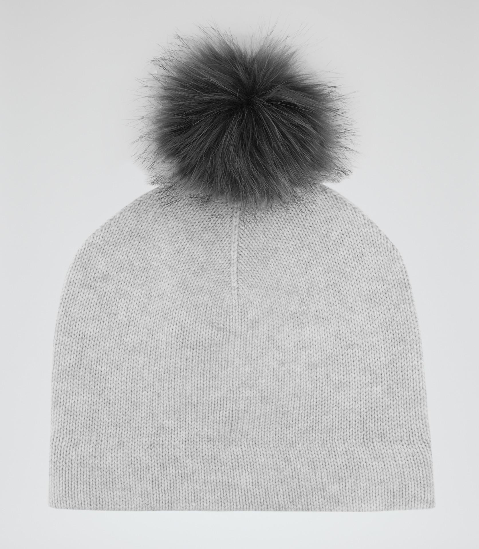 4f6d7fcf774 Lyst - Reiss Flo Cashmere-blend Bobble Hat in Gray