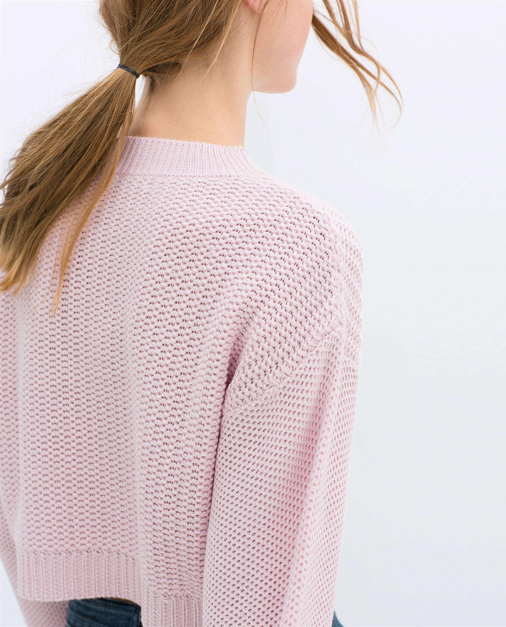 Collection Pink Cropped Sweater Pictures - Lilens