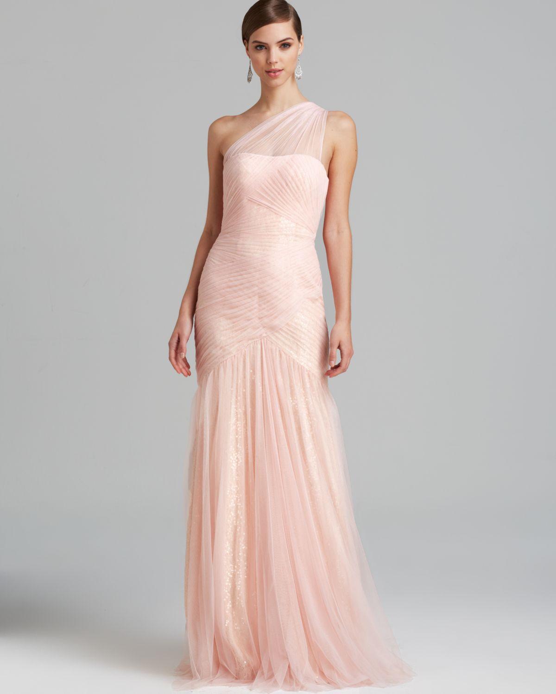 One Shoulder Tulle Dress